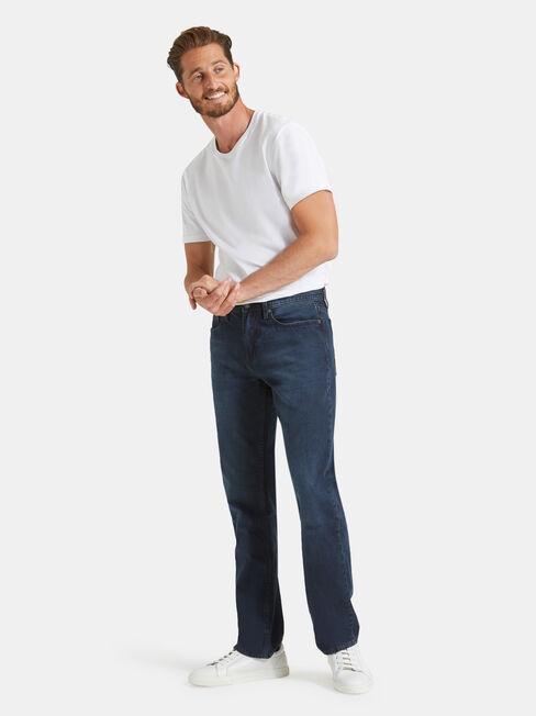 Straight Leg Jeans Indigo Shadow, Mid Indigo, hi-res