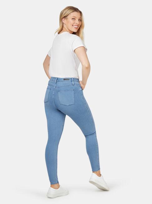 Freeform 360 Contour Curve Embracer Skinny 7/8 Jeans Steel Blue, Light Indigo, hi-res