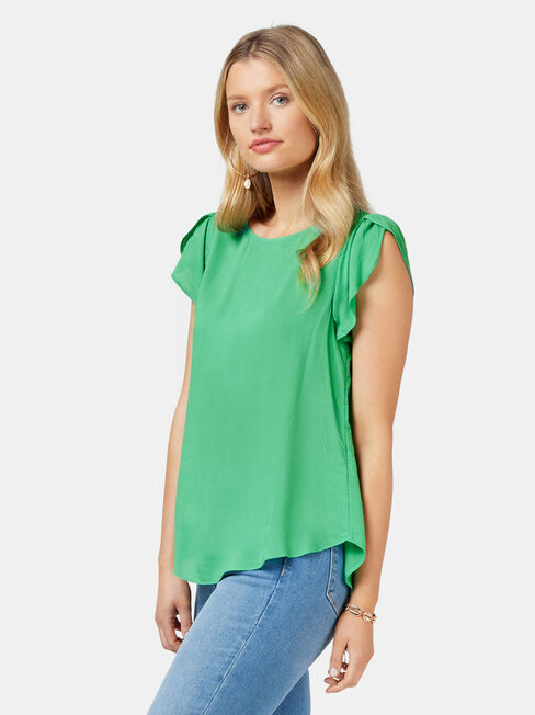 Sienna Dobby Blouse, Green, hi-res