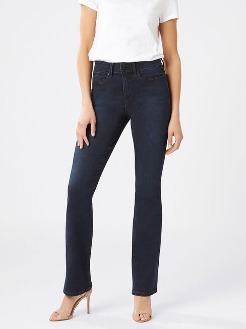 Tummy Trimmer Slim Bootcut jeans Brushed Indigo