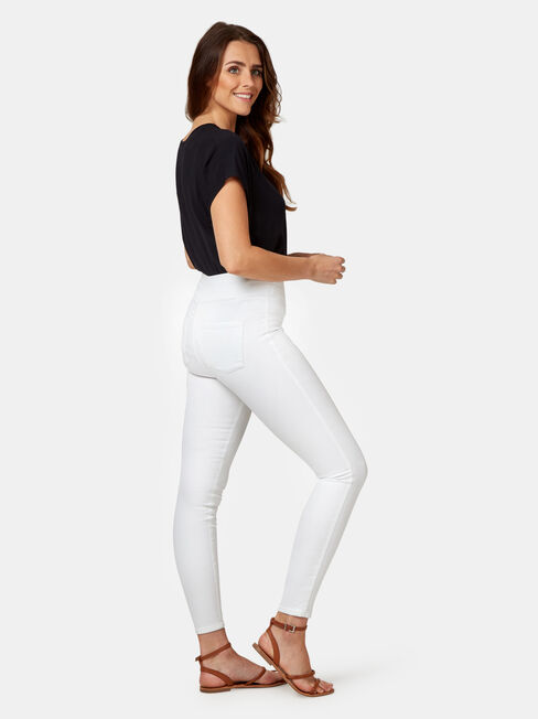 Tummy Trimmer Luxe Lounge Skinny Jeans White, White, hi-res