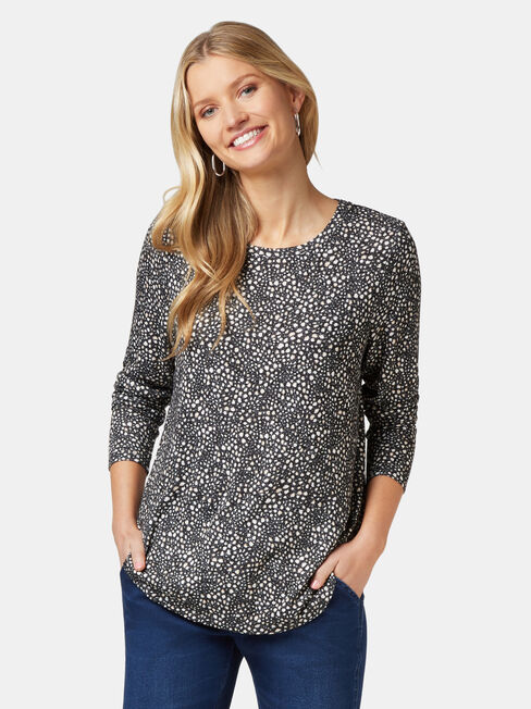 Maddie Soft Touch Curve Hem Pullover, Multi, hi-res