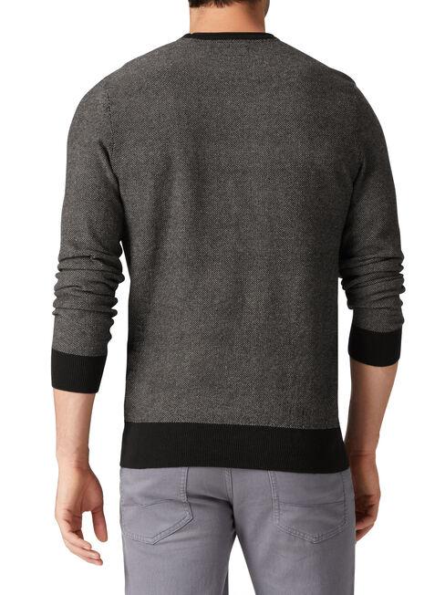 Oregon Textured Crew Knit, Black, hi-res