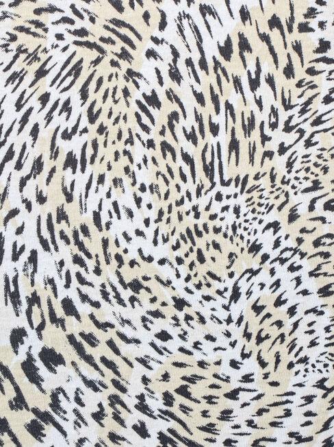 Noelene Animal Print Tee, Brown, hi-res
