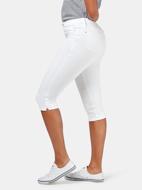 Sonni Mid Waisted Pedal Pusher jean, No Wash, hi-res