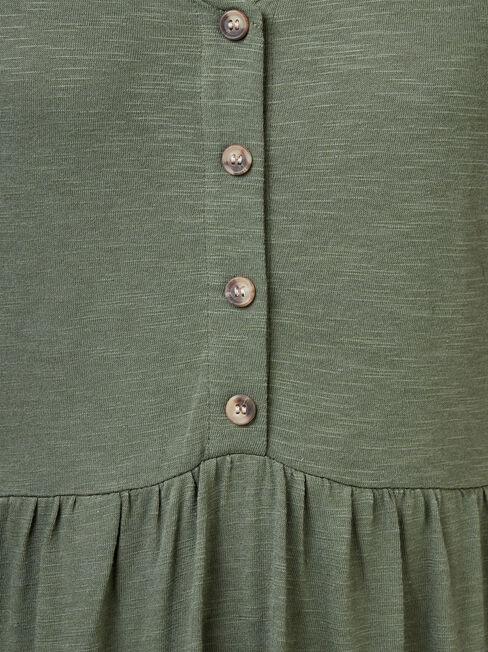 Isabel Jersey Dress, Green, hi-res
