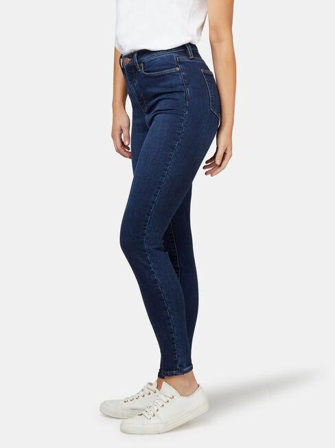 Feather Touch H/W Skinny 7/8 Jeans, Dark Indigo, hi-res