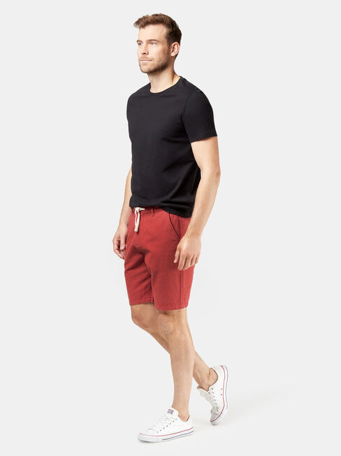 Tommy Tie Front Short, Red, hi-res