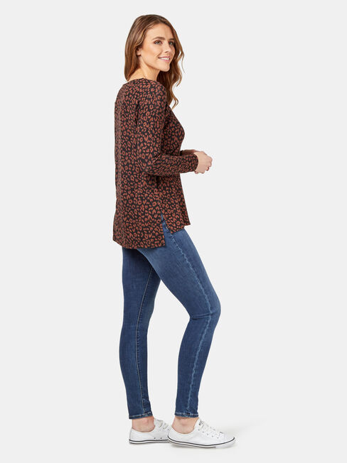 Sarah Soft Touch Pullover, Brown, hi-res