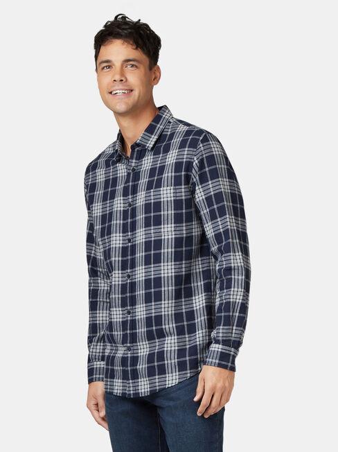 Jack Long Sleeve Brushed Check Shirt, Blue, hi-res