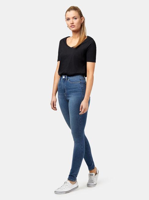 Freeform 360 Contour Skinny High Waisted Jeans, No Wash, hi-res