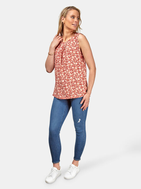 Emily Pleat Front Top, Multi, hi-res