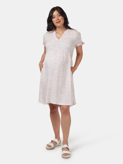 Pia Printed Maternity Dress