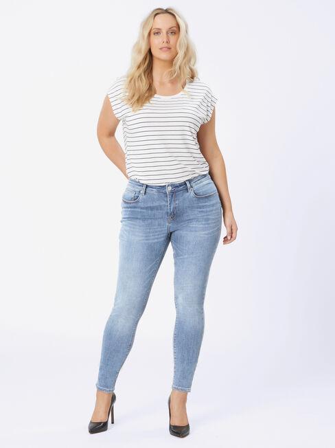 Curve Embracer Skinny jeans Soft Vintage, MidWash, hi-res