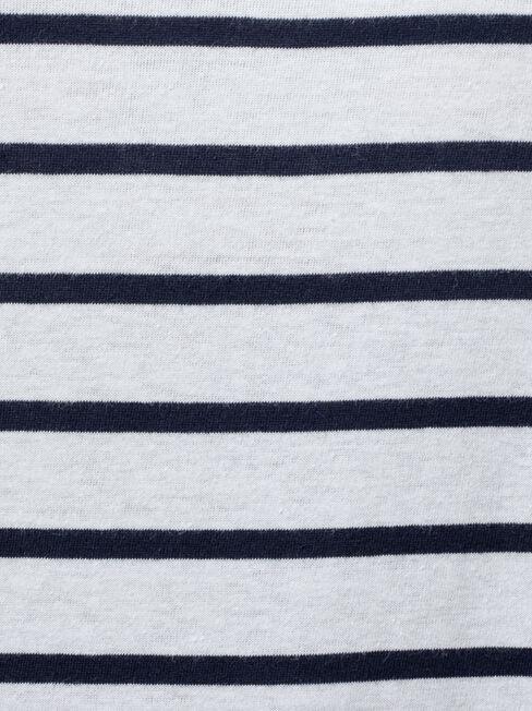 Essential Crew Neck Tee, Stripe, hi-res
