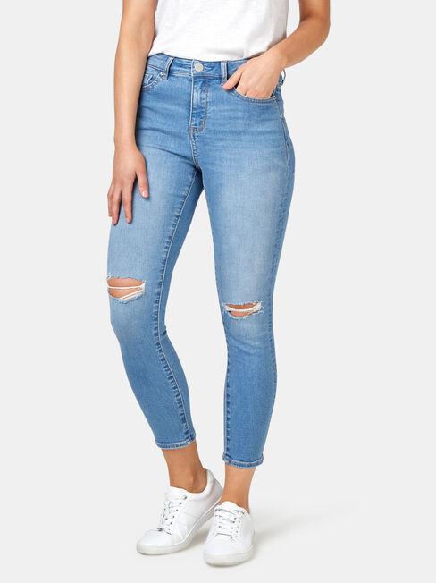 Eleanor Mid Waist Skinny Crop Jeans