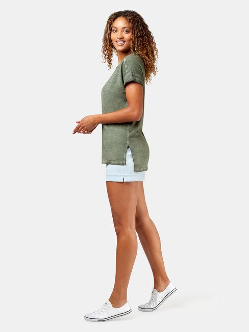Shelley Garment Dye Tee, Green, hi-res