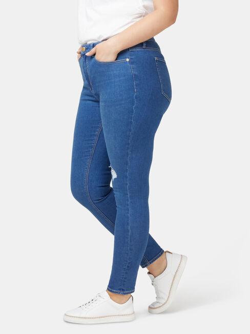 Valerie Curve Embracer Skinny 7/8 Jeans, Mid Indigo, hi-res