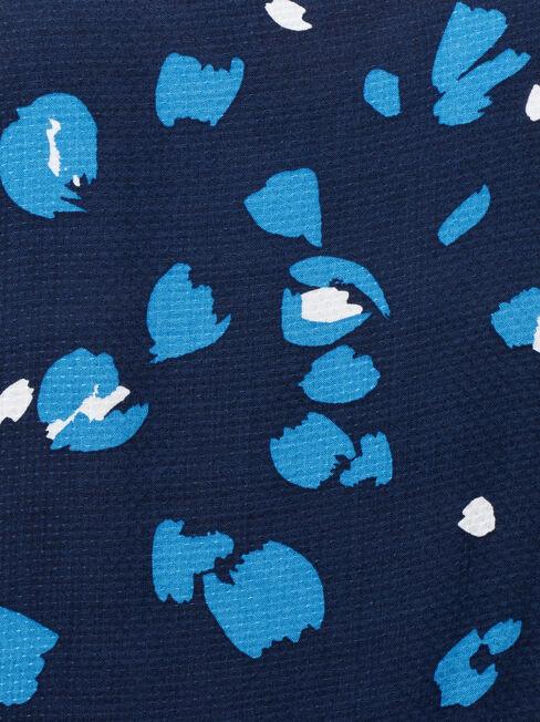 Saffi Petal Sleeve Blouse, Blue, hi-res