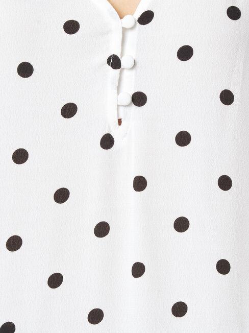Nina Button Front Blouse, Multi, hi-res