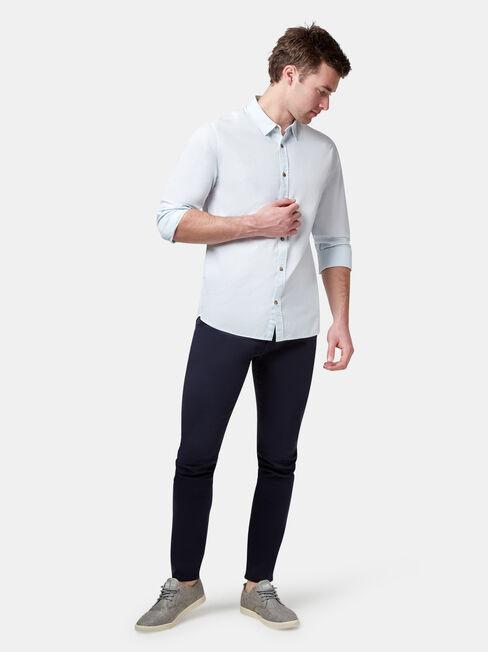 LS Louis Stripe Shirt, Blue, hi-res