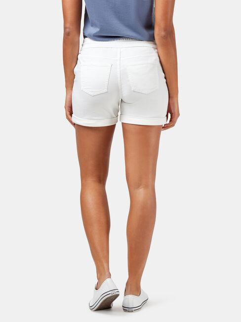 Sara Luxe Lounge Short, White, hi-res