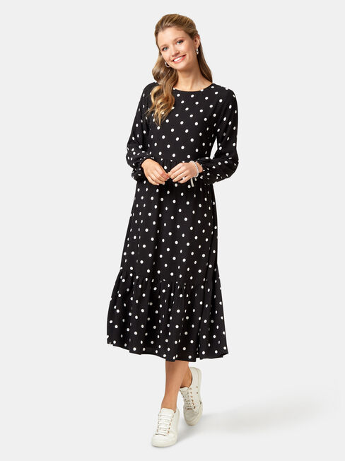 Tory Tiered Midi Dress, Multi, hi-res