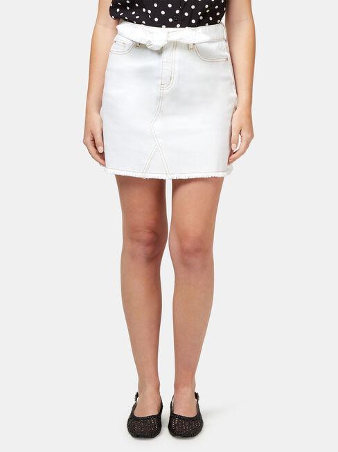 Martha Contrast Stitch Denim Skirt