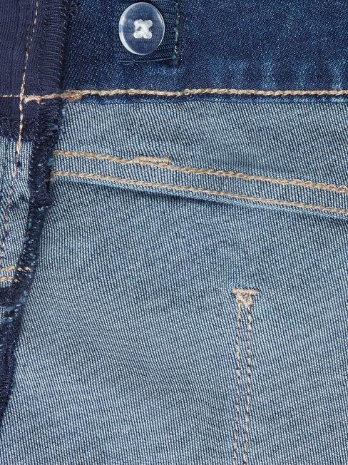 Maternity Bermuda Short, Blue, hi-res