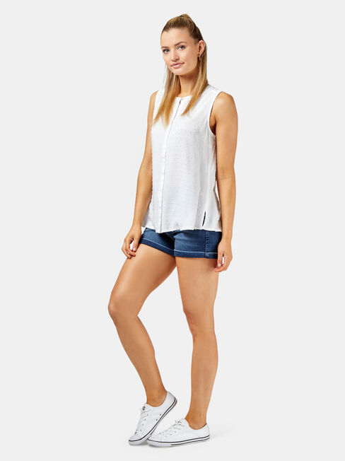 Rea Sleeveless Top +, White, hi-res