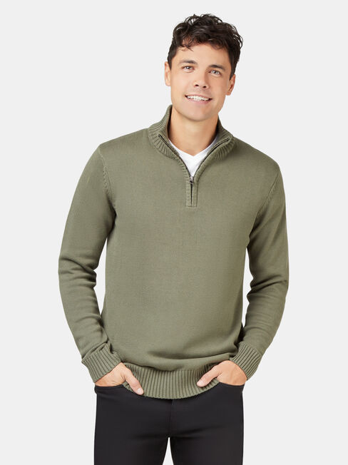 Ezra Funnel Zip Neck Knit