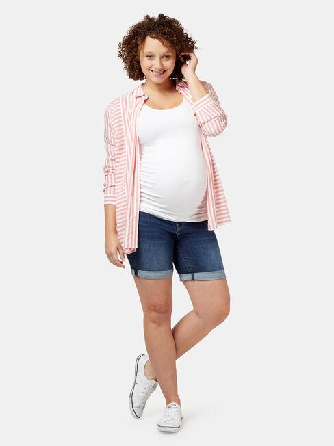 Sonni Maternity Bermuda Short, Blue, hi-res
