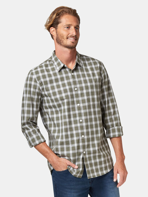 Turner Check Shirt, Green, hi-res