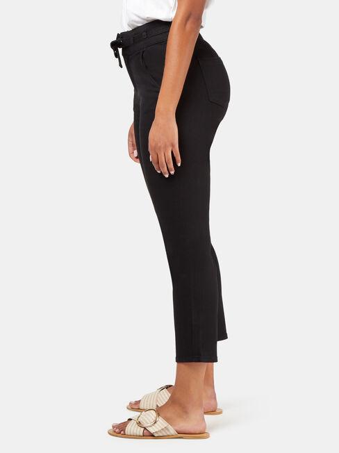 Goldie High Waisted Pipe Jean, Black, hi-res