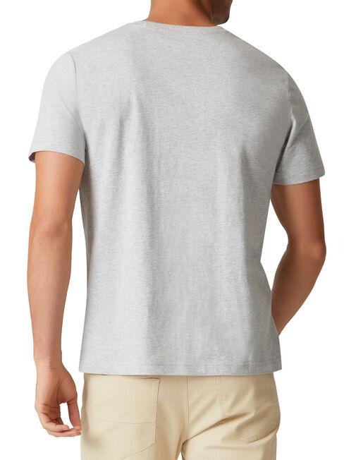 Basic Short Sleeve Tee, Grey, hi-res