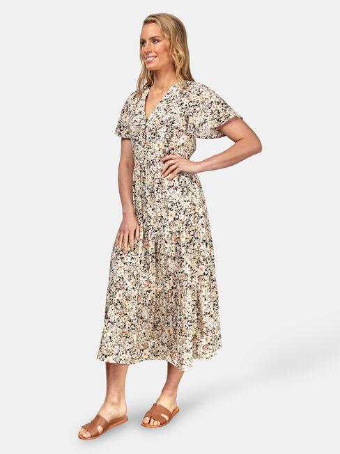 Maya Midi Dress, Multi, hi-res