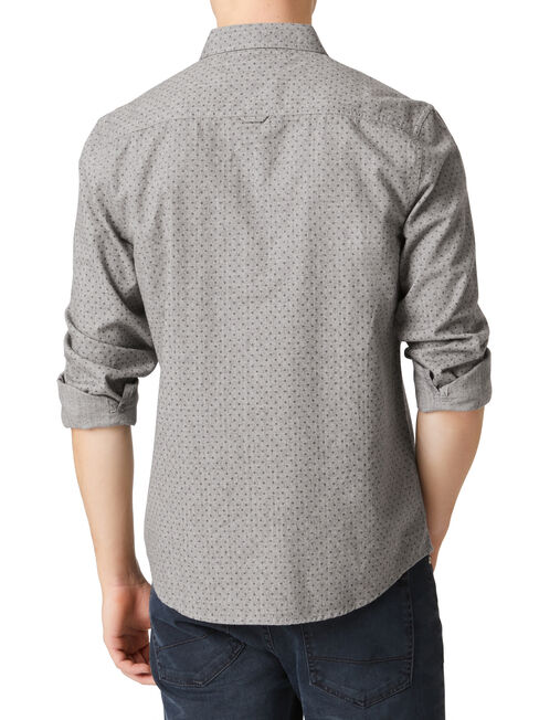 LS Hartley Print Shirt, Grey, hi-res