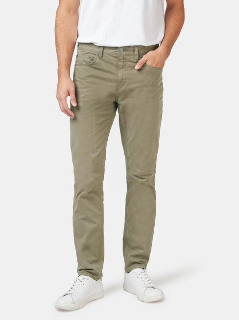 Slim Tapered Jeans Dark Olive, Coloured, hi-res