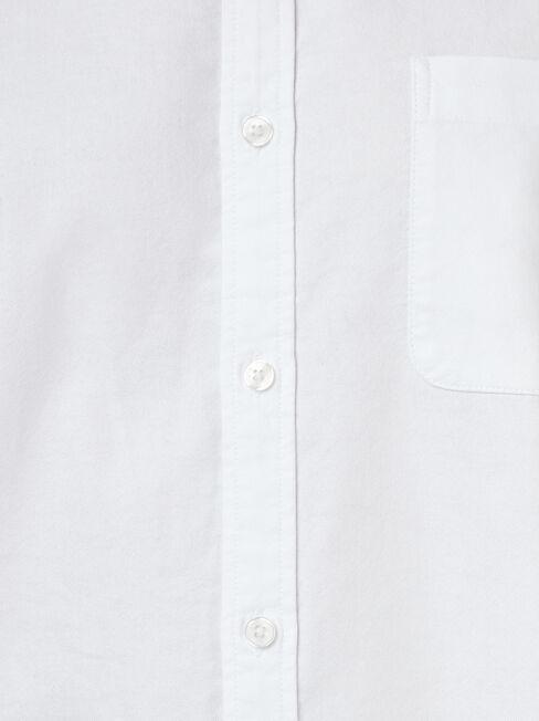 LS Heston Oxford Shirt, White, hi-res