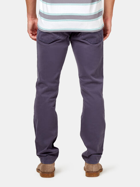 Slim Straight Jeans Navy, Coloured, hi-res