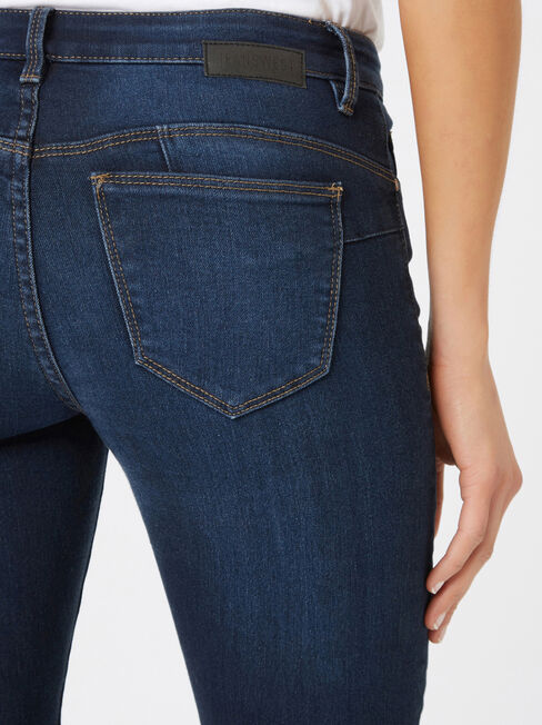 Butt Lifter Skinny Brushed Indigo, Dark Indigo, hi-res