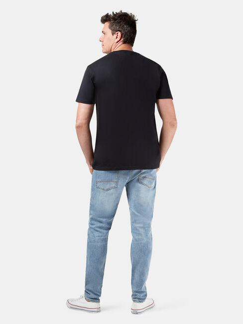 Chuck Short Sleeve Print Crew Tee, Black, hi-res