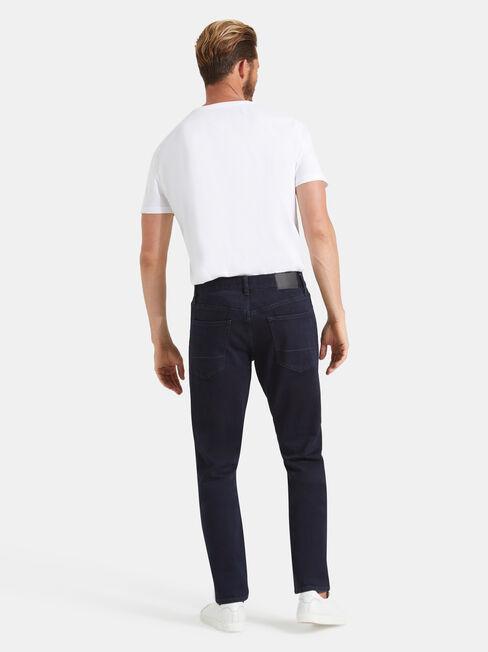 Slim Tapered Jeans Coated Ink, Dark Indigo, hi-res
