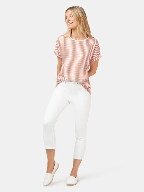 Drop Shoulder Tee, Stripe, hi-res