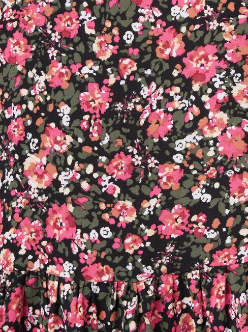 Penelope Peplum Hem Top, Floral, hi-res