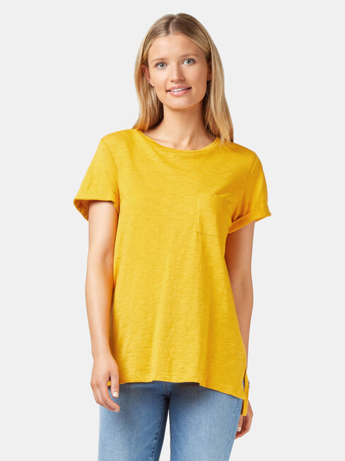Relaxed Pocket Slub Tee