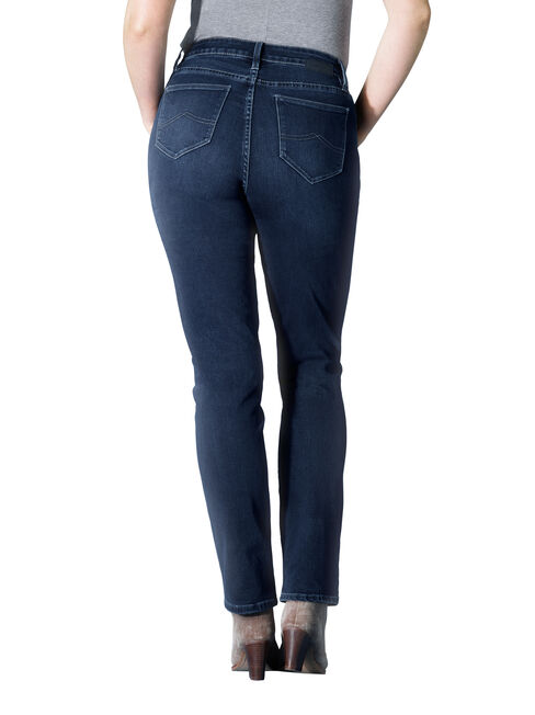 Curve Embracer Slim Straight jeans Deep Sea Blue, Mid Indigo, hi-res