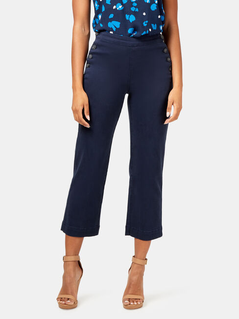 Arianna Button Side Pant, Blue, hi-res