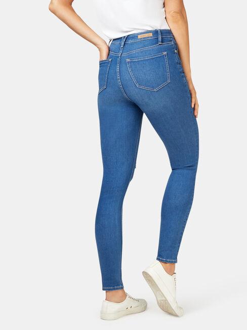 Valerie Mid Waisted Skinny 7/8 Jeans Mid Indigo, Mid Indigo, hi-res