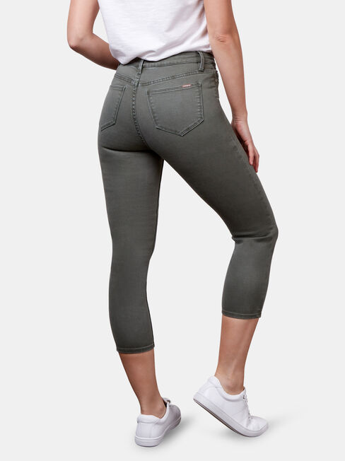 Kara Mid Waist skinny capri, Coloured, hi-res